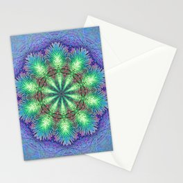 Blue Vintage Flower Background Pattern Stationery Cards