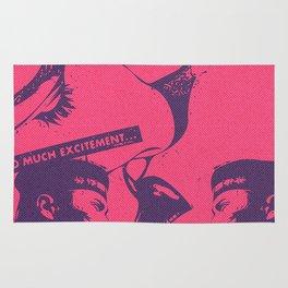Pink Pop Art Kiss Scandal in Paris Rug