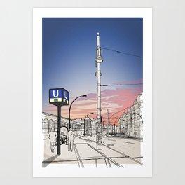 S+U Warschauer Strasse Art Print