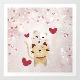 Cats Love Art Print