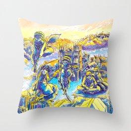 S'en va t'en Queste Throw Pillow