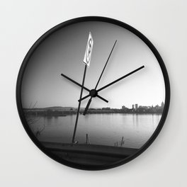 Pollution Permitted B&W Wall Clock