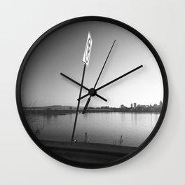 Pollution Permitted B&W Wall Clock