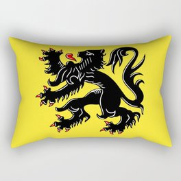 Flag of Flanders - Belgium,Belgian,vlaanderen,Vlaam,Oostende,Antwerpen,Gent,Beveren,Brussels,flamish Rectangular Pillow
