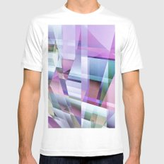 in the frame White MEDIUM Mens Fitted Tee
