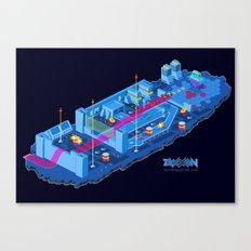 Zaxxon Canvas Print