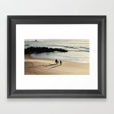 beach walk Framed Art Print