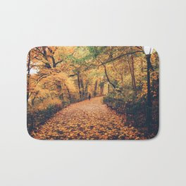 Autumn Walk New York City Bath Mat
