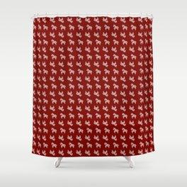 Scandi Horse Pattern Shower Curtain