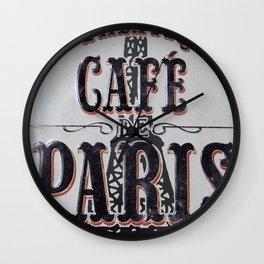 Coffee of Paris | Café de Paris Wall Clock