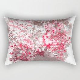 Plum Peppermint Flower Bouquet Rectangular Pillow
