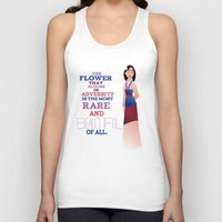 mulan Tank Tops featuring flower that blooms, mulan by studiomarshallarts