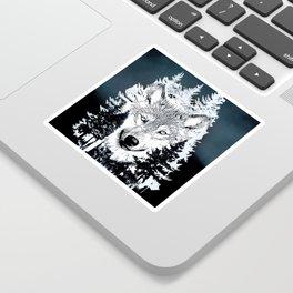 Forest Wolf Art Sticker