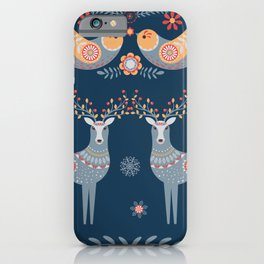 Nordic Winter Blue iPhone Case