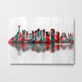 Rio de Janeiro Brazil Skyline Metal Print