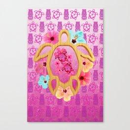 Hawaiian Pink Honu Canvas Print