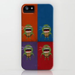 Screaming Turtles iPhone Case