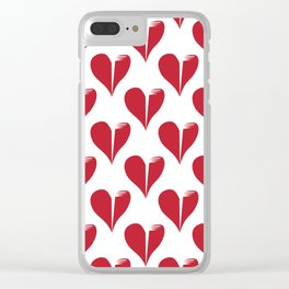 Seamless pattern with broken hearts Clear iPhone Case