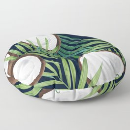 Coconuts & Palm Leaves Tropical Resort Vibes Floor Pillow