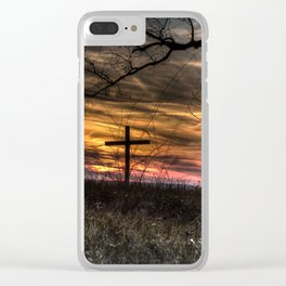May your faith sustain you Clear iPhone Case