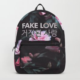 Fake Love Pink Floral Backpack