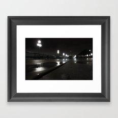 Promenade d'un nuit Framed Art Print