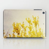coldplay iPad Cases featuring And it Was All Yellow by Olivia Joy StClaire