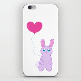 balloon bunny iPhone Skin
