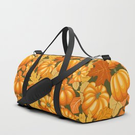 Pumpkins and Autumn Leaves Party Duffle Bag