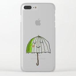 cute UMBRELLA Clear iPhone Case