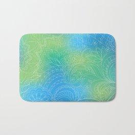 transparent white zen pattern blue gradient Bath Mat
