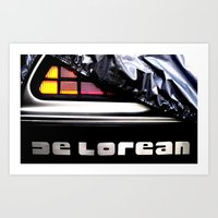 delorean Art Prints featuring Delorean exposed by SIMid