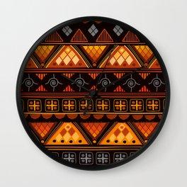Modern Native American Pattern Wall Clock