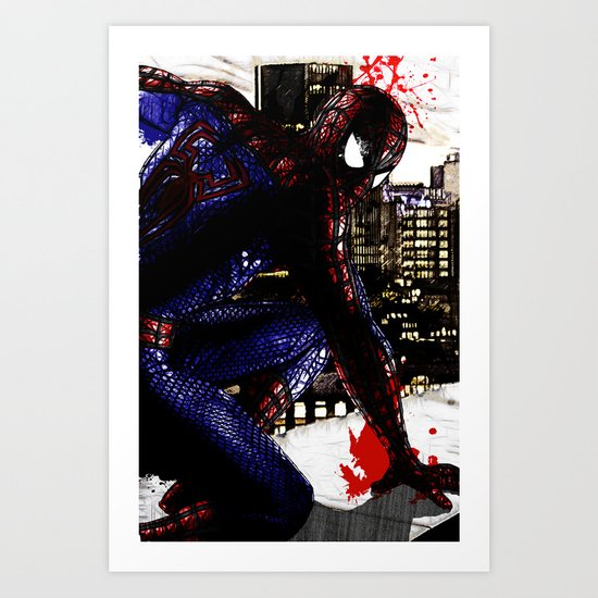 Spiderman in London Close up Art Print