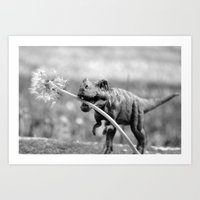 Dandy Dino Art Print
