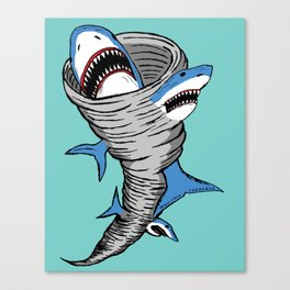 Shark Tornado Canvas Print