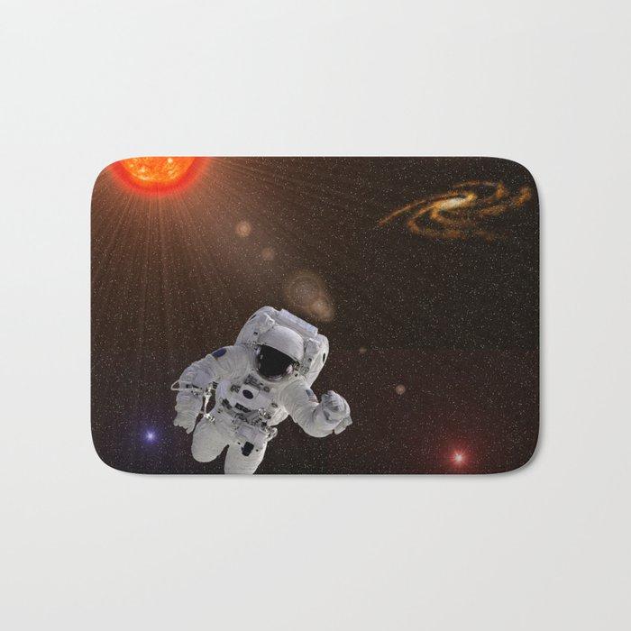 Astronaut Sun Stars Bath Mat