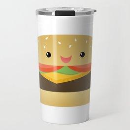 Happy Cheeseburger Travel Mug