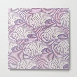 Lilac Waves Metal Print