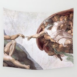 The Creation Of Adam Wall Tapestry