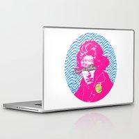 beethoven Laptop & iPad Skins featuring Ludwig van Beethoven 18 by Marko Köppe