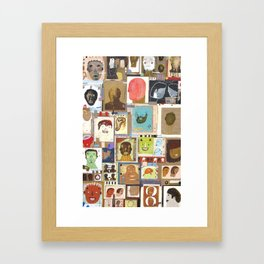People That I Knew Framed Art Print