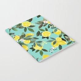 Summer Lemon Floral Notebook