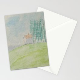 Hilltop house Stationery Cards