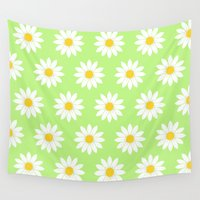 daisies Wall Tapestries featuring Daisies by The Wellington Boot