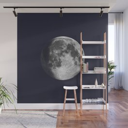 Waxing Gibbous Moon on Navy Wall Mural