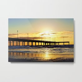 Sunrise in Port Aransas Metal Print