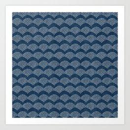 Wabi Sabi Arches in Blue Art Print