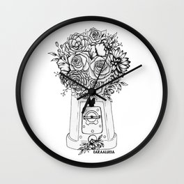 Grow in unfamiliar places Wall Clock