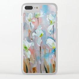 Tulip Garden Clear iPhone Case